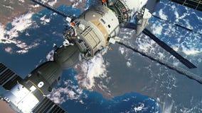 Öka höjden av omloppet av rymdstationen stock illustrationer