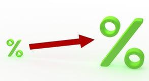 öka procenthastigheten stock illustrationer