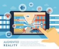 Ökade verklighetteknologisymboler royaltyfria bilder