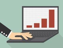 ökande tillväxt för grafer för affärsdiagram gagnar hastigheter Royaltyfri Bild