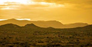Öken av östliga Etiopien nära Somalia Arkivfoton