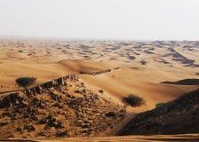 Öken av Dubai Royaltyfria Bilder