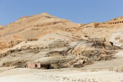 Öken av Egypten Royaltyfria Foton