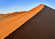 Öken av namib med orange dyn Royaltyfri Foto