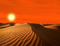 Öken av Nordafrika Arkivfoto