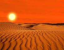 Öken av Nordafrika som är sandig Royaltyfria Bilder