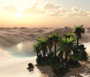 Öken av sand, panorama av ett ökenlandskap royaltyfri illustrationer
