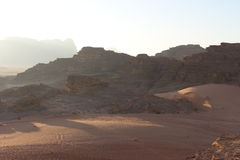 Öken av Wadi Rum, Jordanien Royaltyfria Foton