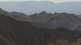 Öken-berg landskap almeria spain stock video