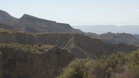Öken-berg landskap almeria spain lager videofilmer