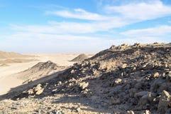 Öken berg, sand på en solig dag Royaltyfri Foto