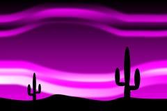 Öken efter solnedgång vektor illustrationer