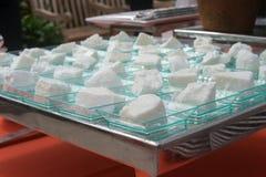 Öken för vit kaka Royaltyfria Bilder