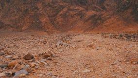 Öken i Egypten, sand och berg arkivfilmer