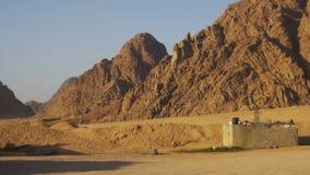 Öken i Egypten, sand och berg, panoramautsikt arkivfilmer