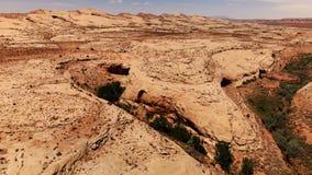 Öken i Utah, USA scenisk liggande Natur geologi, miljö av Utah Sikt från över, flyg- sikt, surrskott lager videofilmer