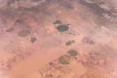 Öken i västra Kina Arkivbild