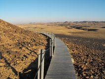 Öken Israel, negev, berg, himmel, bro Arkivbilder
