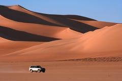 Öken Libyen, Sahara, razzia, africa Arkivfoto