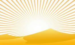 Öken med solstrålen Fotografering för Bildbyråer
