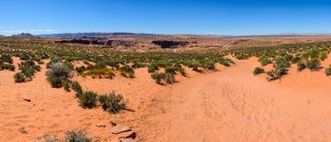 Öken nära den Grand Canyon hästskokrökningen, sida, Arizona Royaltyfria Bilder