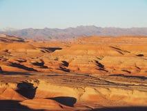 Öken och högt landskap för KARTBOKBERGområde i centrala Marocko Arkivbilder