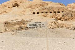 Öken på Egypten Arkivbilder