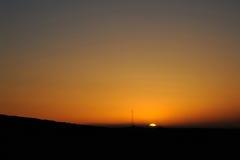 Öken på soluppgång Arkivfoton