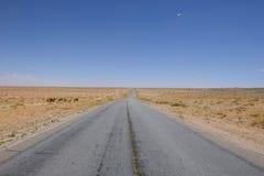 Öken Road Arkivfoto