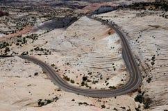 Öken Road Fotografering för Bildbyråer