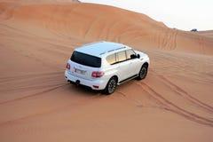 Öken Safari Drive Nissan Patrol 4x4 Arkivfoto