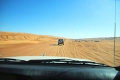 Öken Safari Oman royaltyfri fotografi