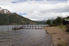 Öken sjö, Argentina Royaltyfria Bilder