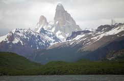 Öken sjö, Argentina Arkivfoton