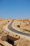 öken tunisia Arkivbilder