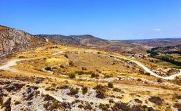 Ökenberg nära Albarracin Arkivbild