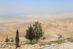 Ökenberglandskap (den flyg- sikten), Jordanien, Mellanösten Royaltyfri Fotografi