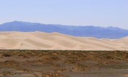 ökengobi liggande mongolia royaltyfria bilder