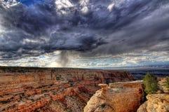 Ökenhäftigt regn Arkivbild