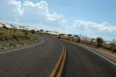 ökenhuvudväg fotografering för bildbyråer