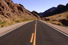 ökenhuvudväg Royaltyfria Bilder