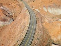 ökenhuvudväg arkivfoton