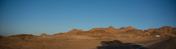 ökenisrael sten Arkivbilder