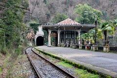 Ökenjärnvägsstation på den nya Afonen Royaltyfria Foton