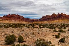 Ökenkanjon av den Utah öknen arkivbilder