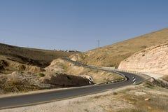 Ökenkanjon av Wadi Kelt Arkivbilder