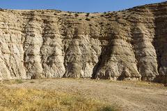 Ökenkanjon av Wadi Kelt Arkivfoton