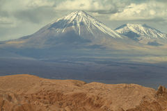 Ökenlandskap av dalen av Mars Royaltyfri Foto