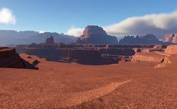 ökenlandskap för fantasi 3D Arkivfoton