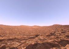 ökenlandskap för tolkning 3D Royaltyfria Bilder